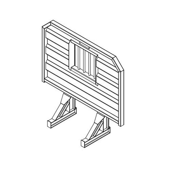Open Aluminum Headache Rack Base For Semi Trucks - Jail Bar Window