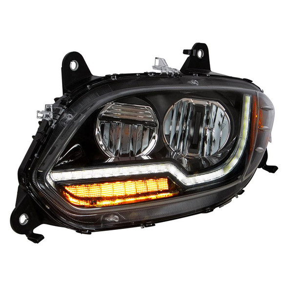 International LT Blackout LED Projector Headlight With Turn Signal Diffusers (Driver)
