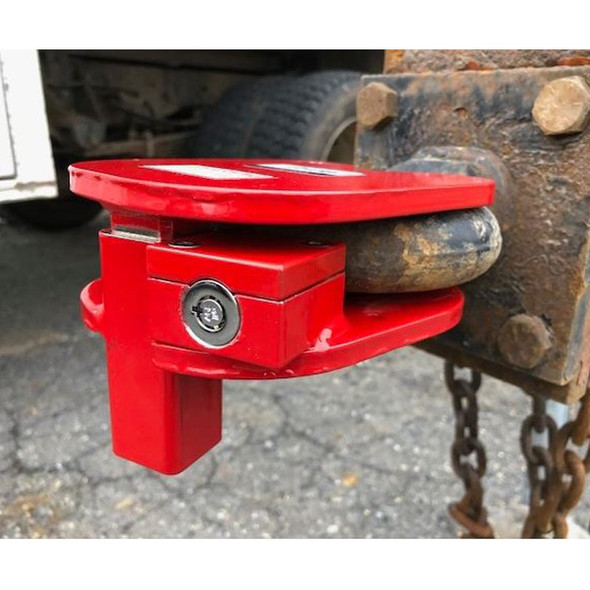 Ball And Ring Hitch Anti-Theft Lock - In Use