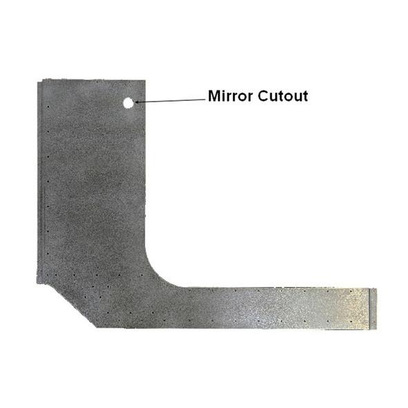 Peterbilt 2005-2013 Aluminum Cab Skin w/ Mirror Cutout