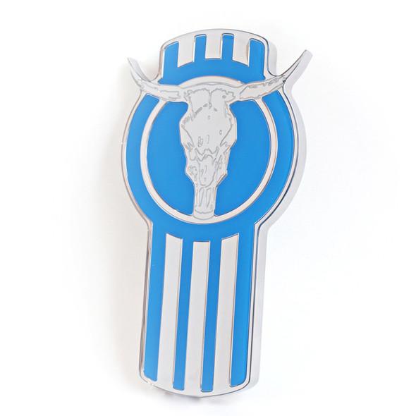 Kenworth Longhorn Bull Emblem (Blue)