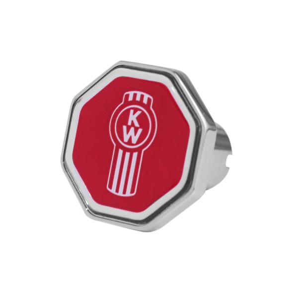 Kenworth Logo Tractor Trailer Air Brake Knob (Octagon; Red)
