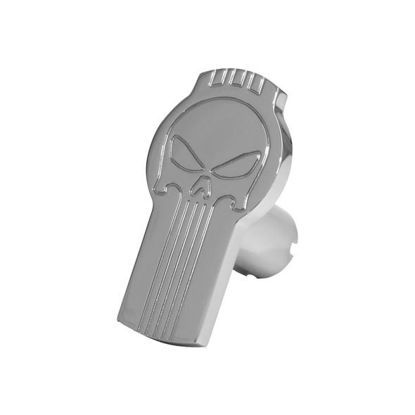 Punisher Logo Shaped Tractor Trailer Air Brake Knob (Chrome)