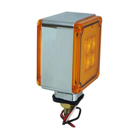 8 LED Mini Square Double Face Turn Signal Light - Amber/Amber