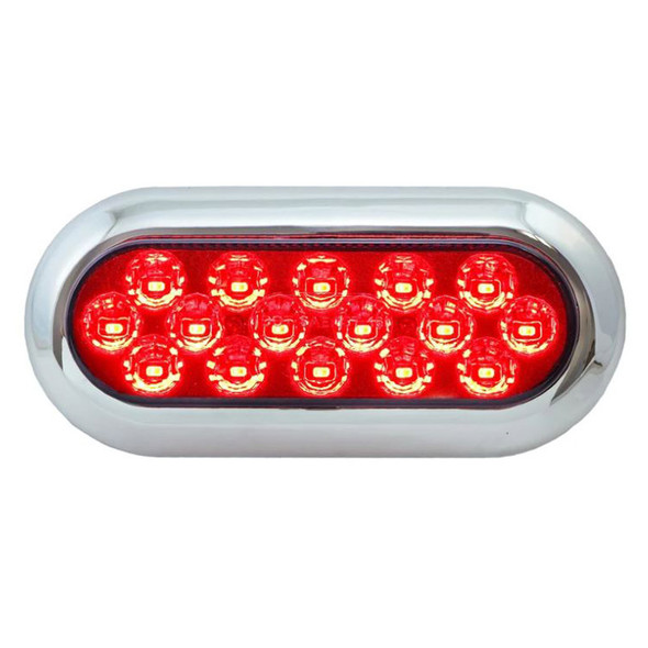 16 LED Surface Mount Stop Tail Turn Brake Light - On