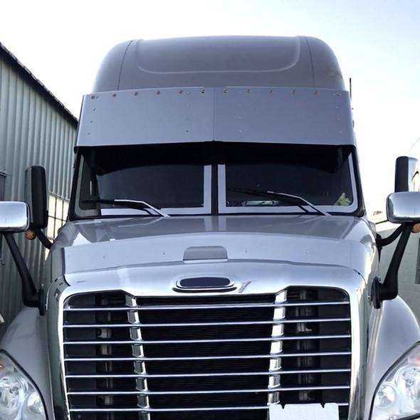 """Freightliner Cascadia 18"""" Drop Visor W/ Optional 3/4"""" LED Lights"""