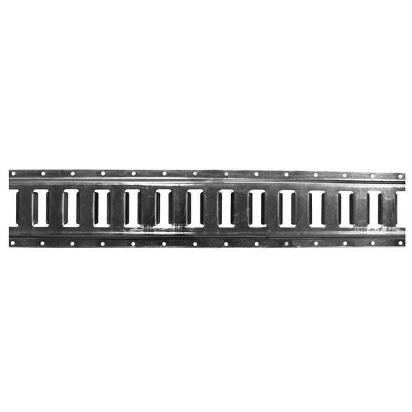 10 ft. Galvanized Horizontal E-Track Rail