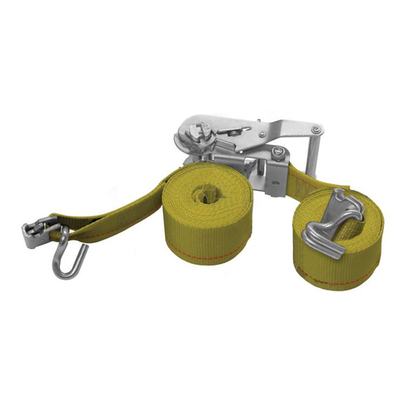 """2"""" E-Track Ratchet Tie Down Strap Assembly With Wire Hook (12 ft.)"""