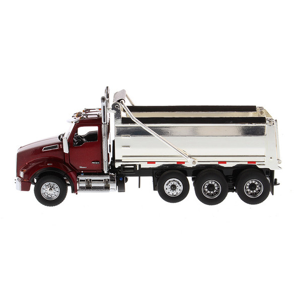 Kenworth T880 SBFA Dump Truck With Chrome Plated Dump Bed Driver Side