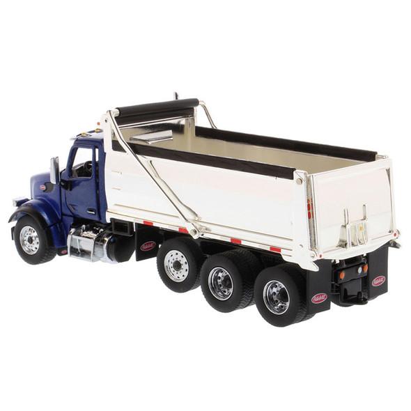 Peterbilt 567 Dump Truck With Chrome Plated Dump Bed Rear Driver Side