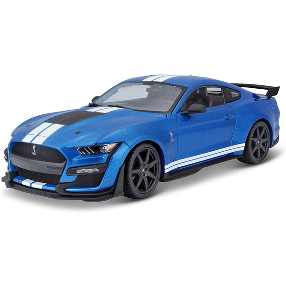 2020 Mustang Shelby GT 500 Blue With White Racing Stripes Main