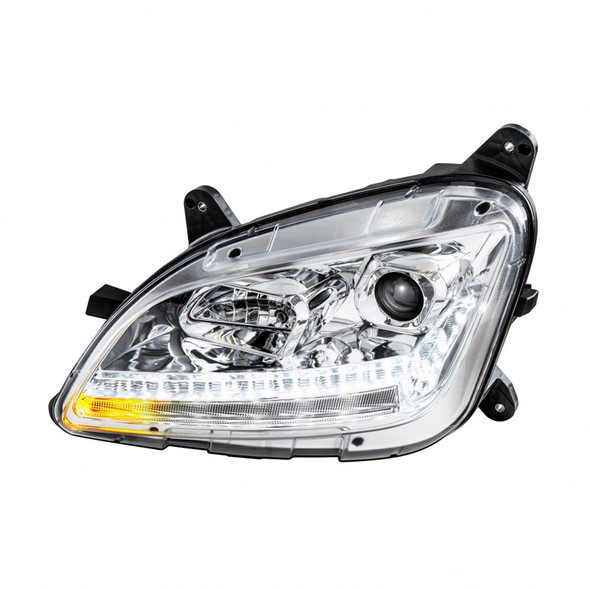 Chrome Projector Headlight Assembly Driver Side