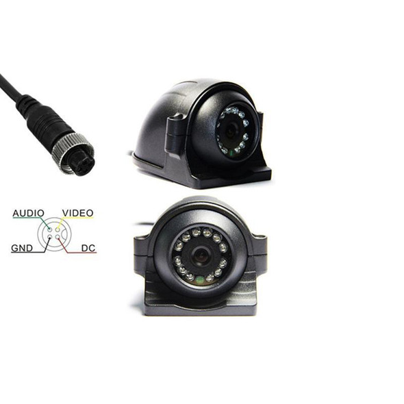 Aerodynamic Side View Camera With IR Lights (Connection)
