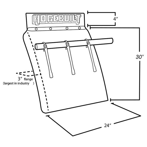 """Hogebuilt Value Line 30"""" Quarter Fender Stainless Steel Kit With U-Bolt Style Mount (Diagram)"""