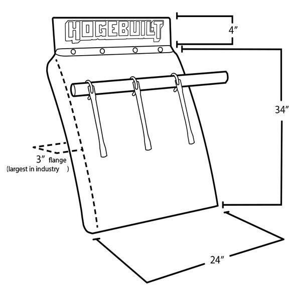 """Hogebuilt Value Line 34"""" Quarter Fender Stainless Steel Kit With U-Bolt Style Mount (Diagram)"""