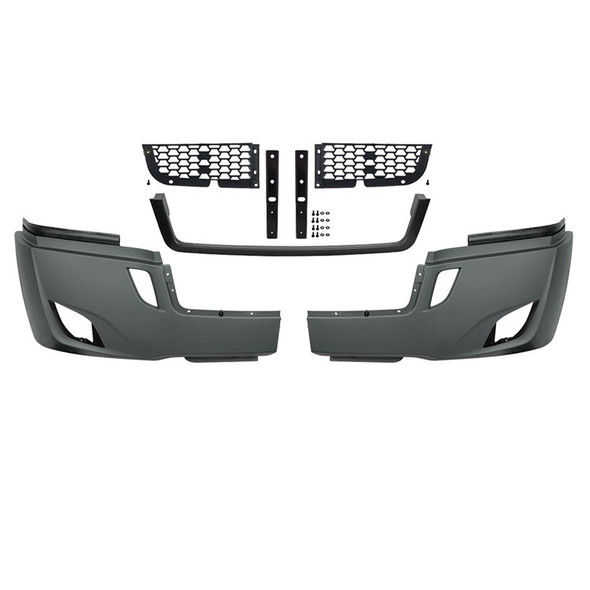 Freightliner Cascadia 2018+ 5-Piece Bumper Kit (With Fog Light Cutouts)