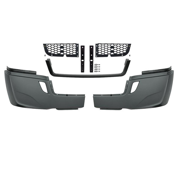 Freightliner Cascadia 2018+ 5-Piece Bumper Kit (Without Fog Light Cutouts)