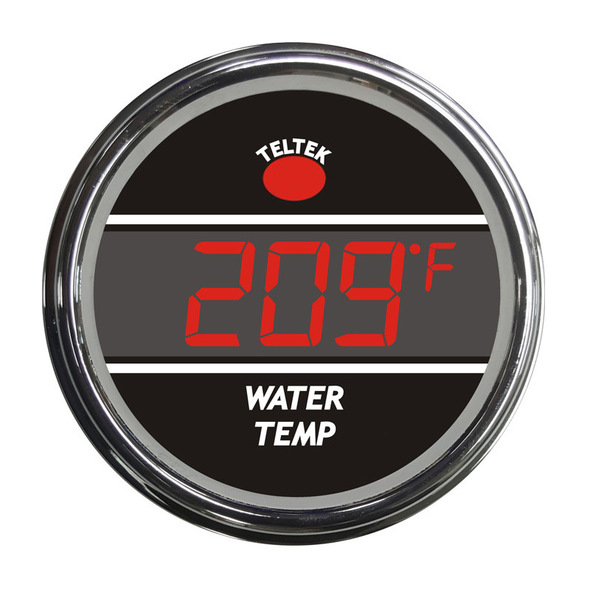 Truck Water Temperature Smart Teltek Gauge - Red