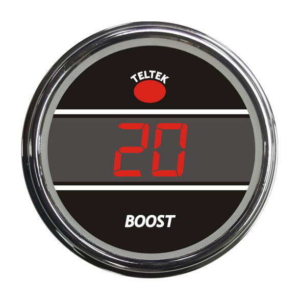 Truck Turbo Boost Smart Teltek Gauge - Red