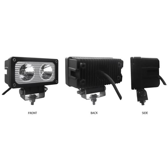 Mini Rectangular High Powered LED Spot Work Lamp Sides