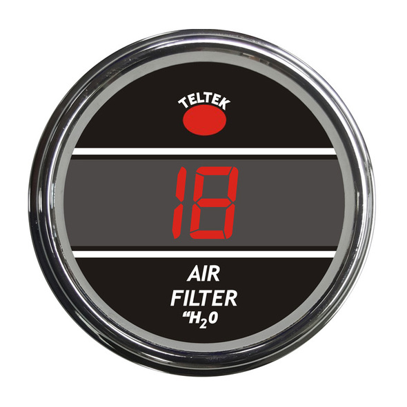 Truck Air Filter Monitor Smart Teltek Gauge Red