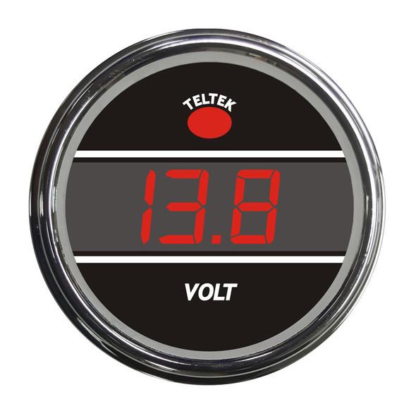 Truck Voltmeter Smart Teltek Gauge Red