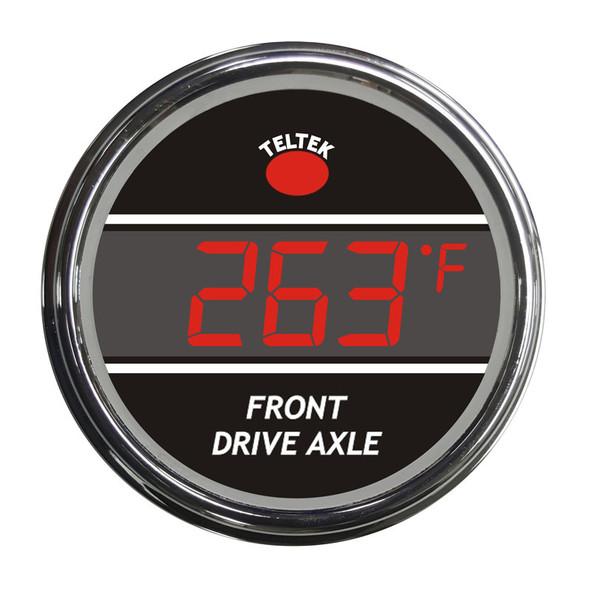 Truck Front Axle Temperature Smart Teltek Gauge Red