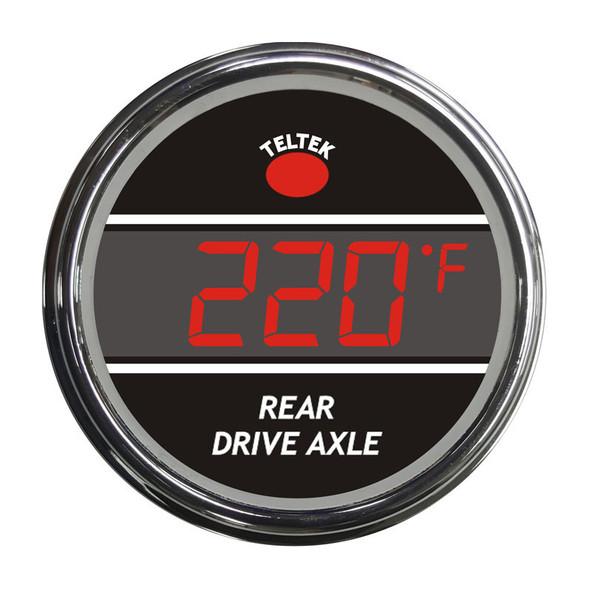 Truck Rear Axle Temperature Smart Teltek Gauge Red