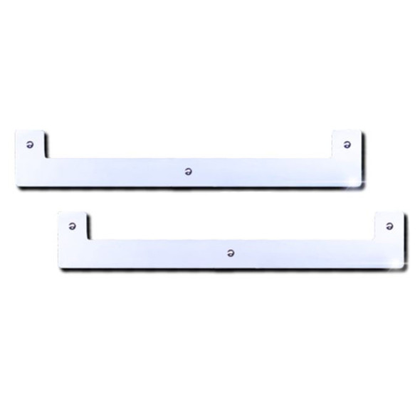 """24"""" Stainless Steel Square Notched Bottom Mud Flap Weight Pair"""