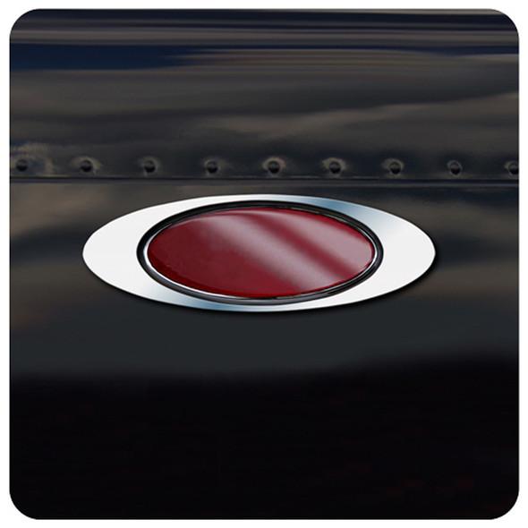 Peterbilt Stainless Steel Standard Emblem Trim Pair