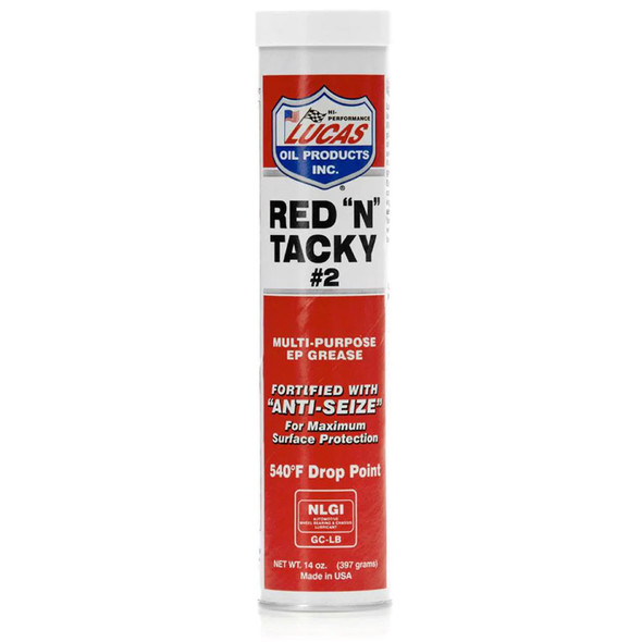 """Lucas Red """"N"""" Tacky #2 Grease (14.5 Oz.)"""
