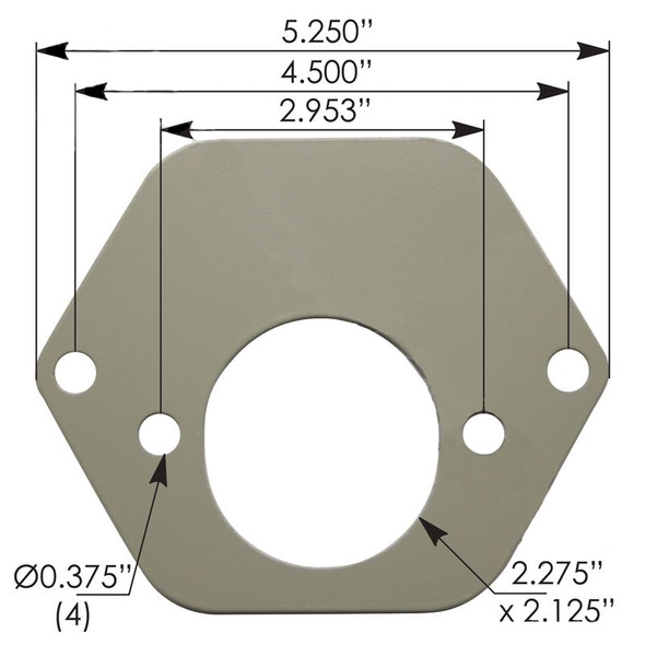 Air And Electrical 7 Way Socket Adapter Plate (Dimensions)