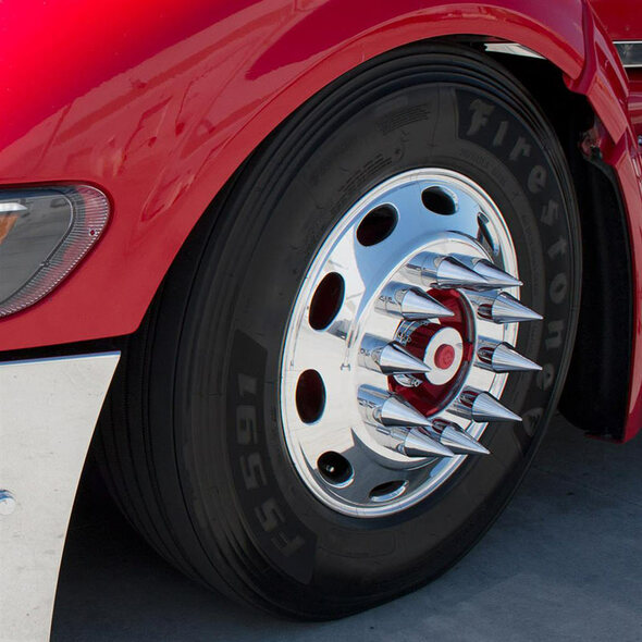 33mm Thread On Spike Nut Covers (Installed)