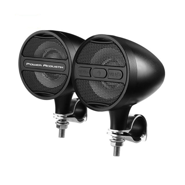 Power Acoustik Bluetooth Motorcycle Handlebar Speakers (Black)