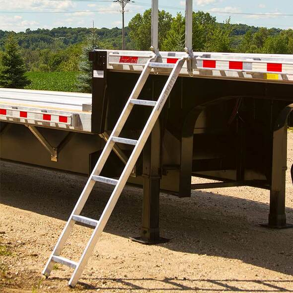 Aluminum Trailer Ladder By Heavy Duty Ramps - Ready To Use