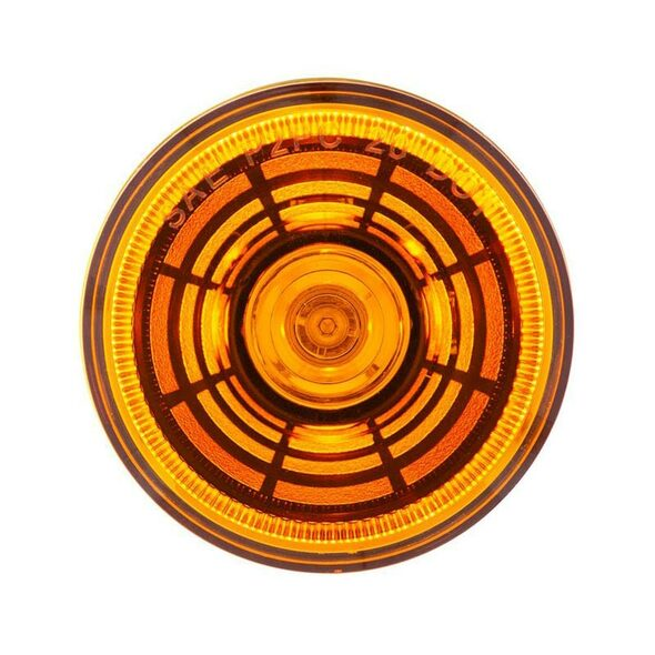 """2 1/2"""" 4 LED Clearance Marker Abyss Light - Amber On"""