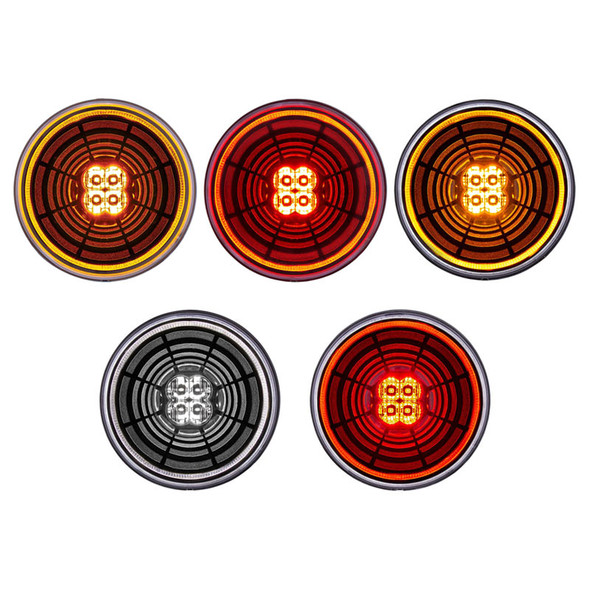 """2"""" 4 LED Clearance Marker Abyss Light"""