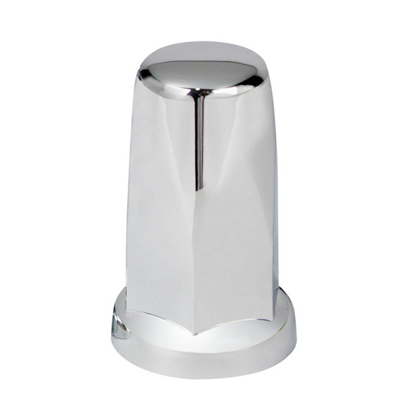 Chrome 33mm Push On Tall Classic Nut Cover - Front View