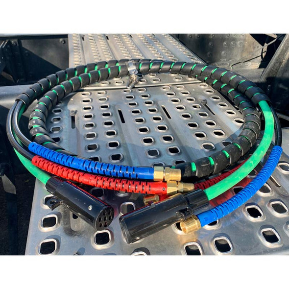 3-in-1 Air Brake Electrical ABS Intelli-Flex Combo Line With Nylon Plugs - On Truck