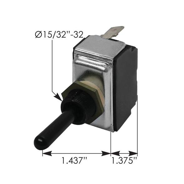 Peterbilt Toggle Switch 8946K833 1603399 - Dimensions