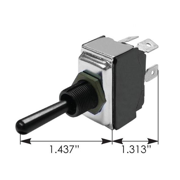 Peterbilt Toggle Switch 1701728 - Dimensions