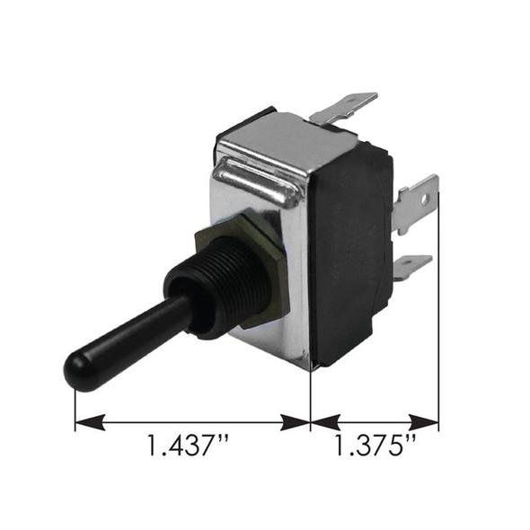 Peterbilt Toggle Switch 1608641 - Dimensions