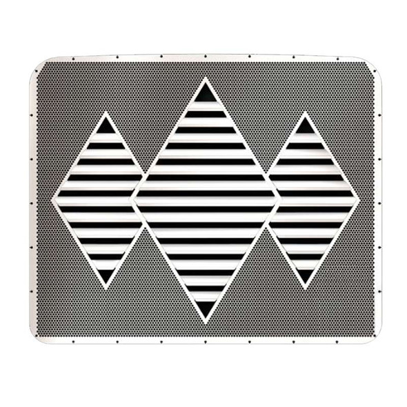 Kenworth W900L Stainless Steel Triple Diamond Louvered Grill Insert By RoadWorks - Default