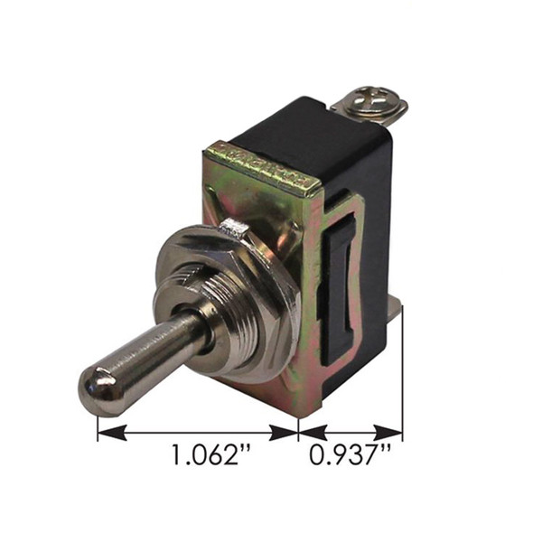 Heavy Duty SPDT On Off On Toggle Switch 191409 - Dimensions