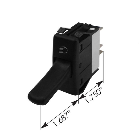 Kenworth Headlight Toggle Switch P27104001 - Dimensions