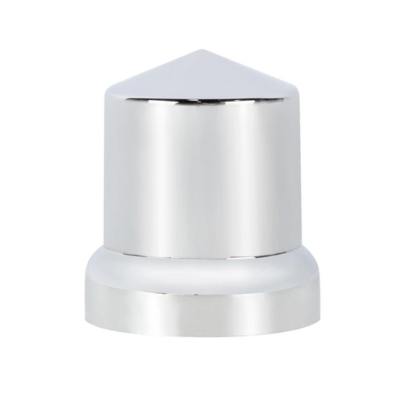 Chrome Plastic 33mm Push On Pointed Nut Cover