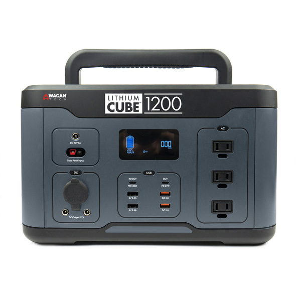 Lithium Cube 1200 Watt Power Inverter By Wagan Tech - Handle 1