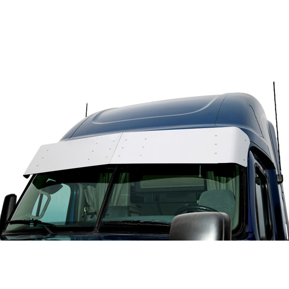 """Freightliner Cascadia 16"""" Drop Visor Replacement Bracket Kit By RoadWorks - Close Up"""