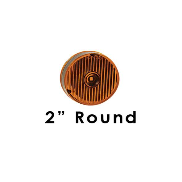"Peterbilt 359 379 388 389 Sleeper Panels With 2"" Round Flat LEDs By RoadWorks - 2"" Round LEDs"