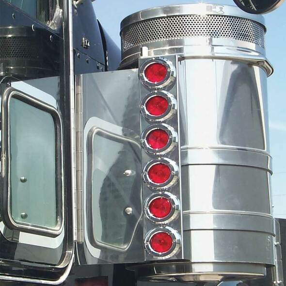 "Kenworth 13"" Donaldson And Vortox Rear Air Cleaner Light Bar With SuperNova LEDs By RoadWorks - Default"